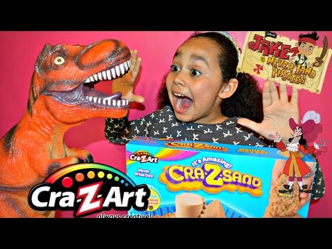 Cra-Z-Sand Playset & Jake And The Neverland Pirates Play- Doh Review | Toys AndMe