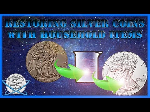 Restoring Silver Coins with Household Items!