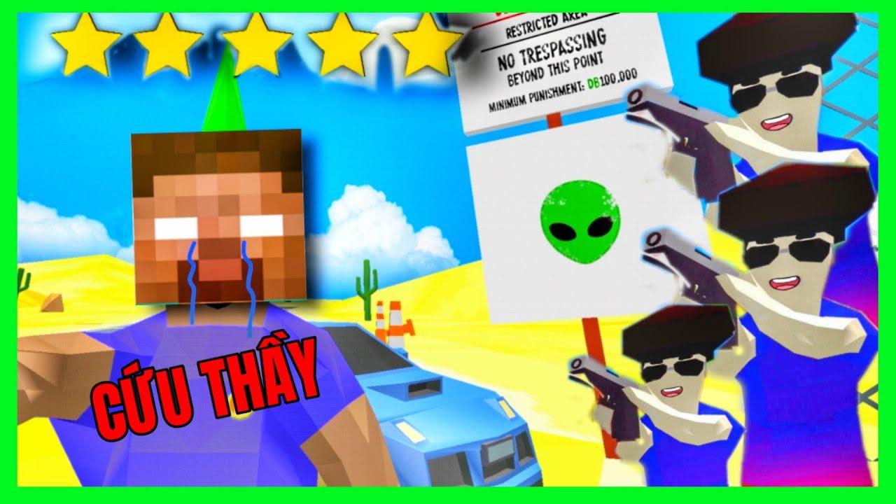 [ Dude Theft Wars ] KHI THẦY ĐƯỢC CHĂM SÓC 5 SAO TRONG KHU VỰC 51 | GAME CÙNG LỚP HỌC  