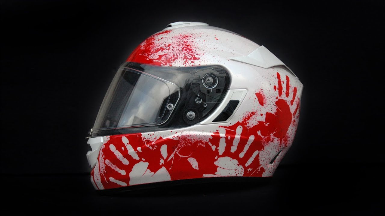 Download Bloody HJC RPHA helmet painting using aerograf airbrush custom painting graffiti art