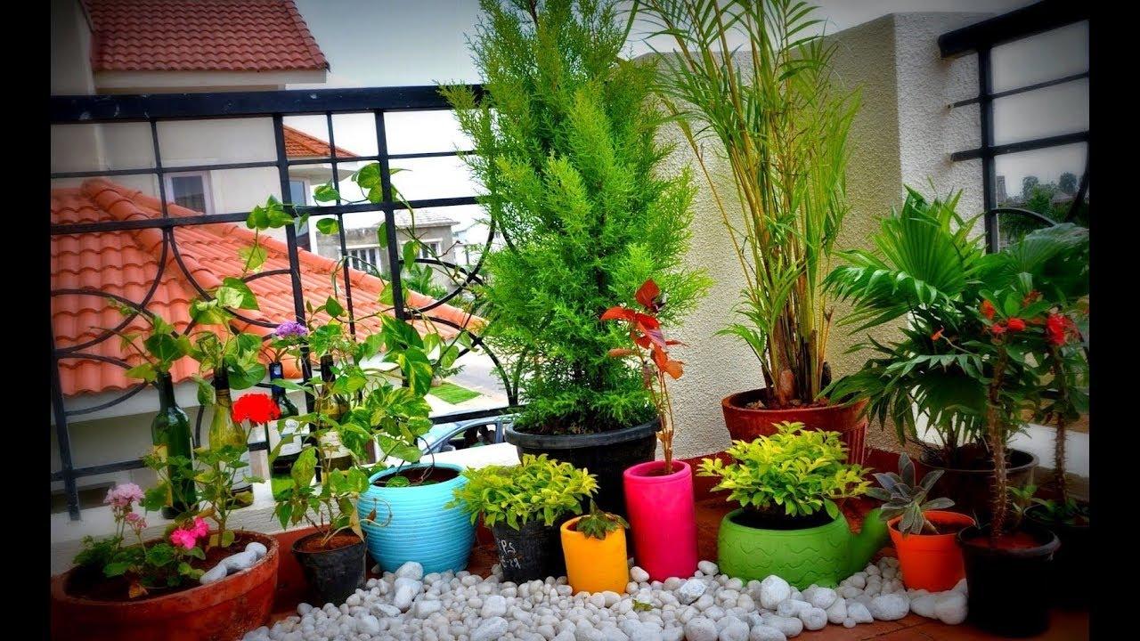Apartment SMALL Balcony Garden Design Ideas - YouTube