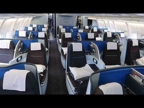 KLM A330 new Business Class from Kigali to Amsterdam (via Uganda)