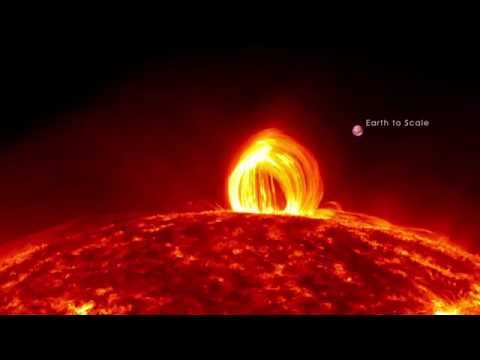 Fiery Loopy Rain Falls on the Sun | NASA SDO Solar Space Science HD Video