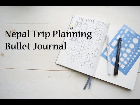 Nepal Travel Bullet Journal