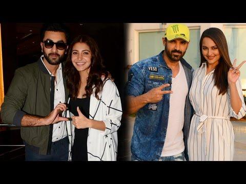 Ranbir Kapoor- Anushka Sharma, John Abraham- Sonakshi Sinha Spotted Promoting