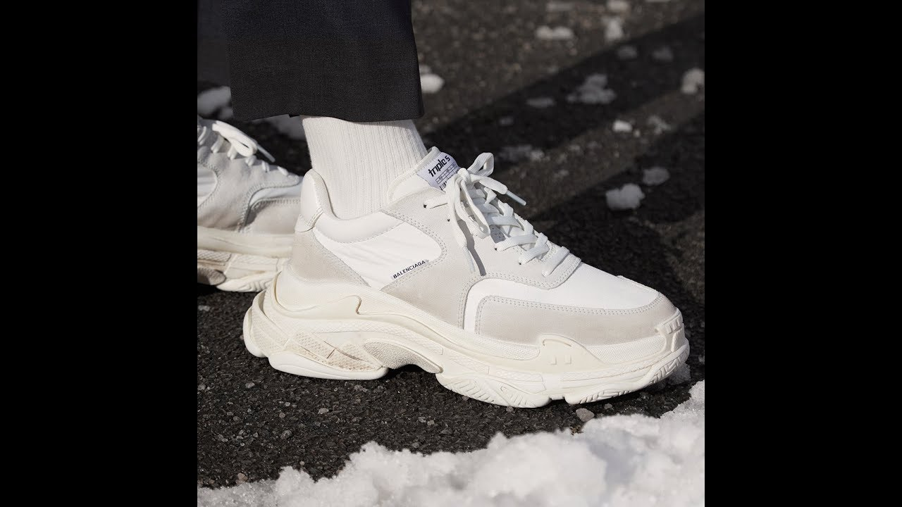 BALENCiAGA Triple S Triple S lace up sneakers leather nylon