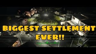 Fallout 4: BIGGEST SETTLEMENT BUILD AT DUNN OUTPOST!!