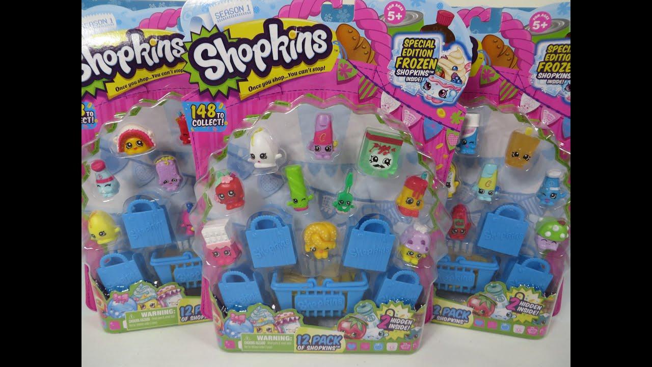Shopkins 12 Pack Opening Unboxing Season 1 We Love Shopkins