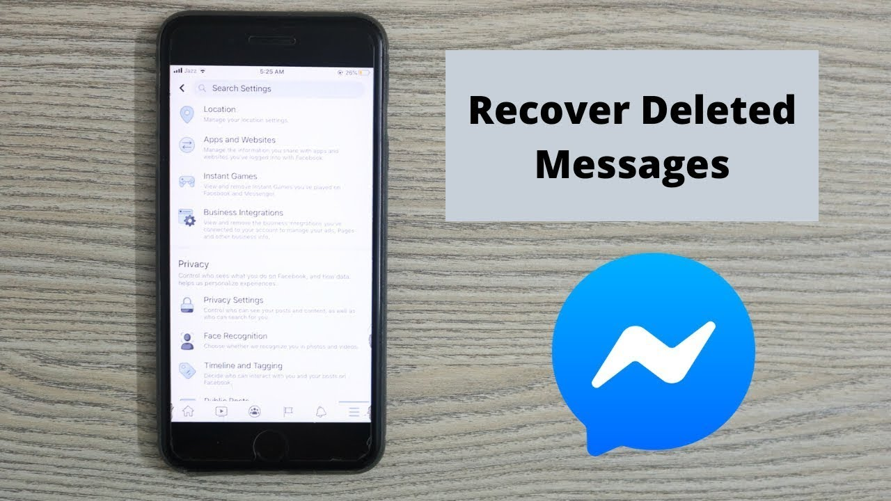 How to Recover Deleted Messages on Messenger (7)  Retrieve Deleted  Messages
