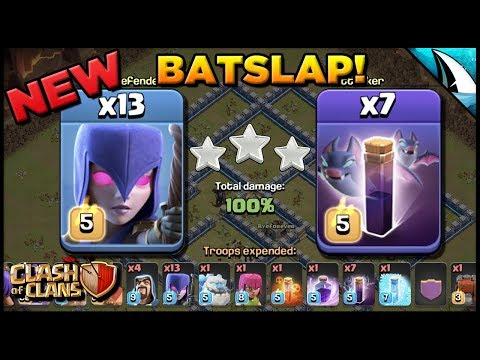 *NEW* Batslap Th 12 Attack Strategy - 13 Witches & 7 Bat Spells | Clash Of Clans