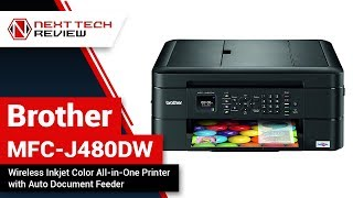 Brother MFC J480DW   Wireless Inkjet Color All in One Printer Product Review  – NTR