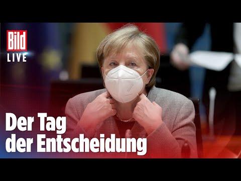 🔴 Mega-Lockdown: Das plant Merkel heute für Deutschland   BILD Live Spezial