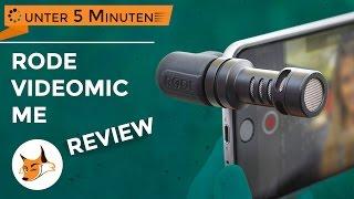 Rode VideoMic Me Smartphone Mikrofon - in unter 5 Minuten