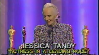 Jessica Tandy winning Best Actress for Driving Miss Daisy