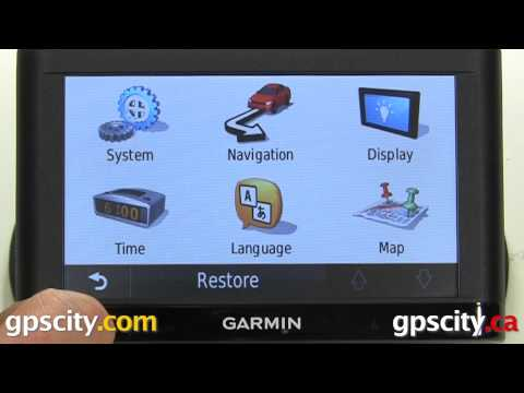 Map Screen Tutorial For The Garmin Nuvi 54LM With GPS City