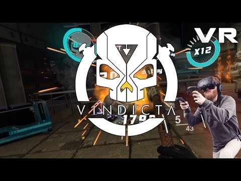 VINDICTA: VR arcade shooter with fun locomotion segments - Gameplay from levels 2 and 3