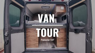 VAN TOUR | Custom Rossmönster van with AC, 800 Watts of solar, and so much more!