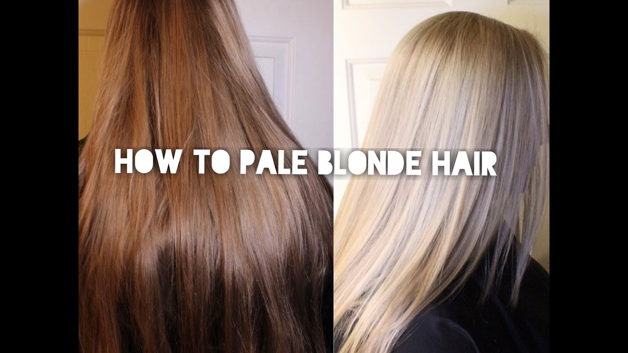 Bleach And Tone White Blonde Youtube