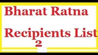 Bharat Ratna Recipients List 2