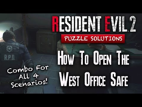 Resident Evil 2 Remake | How To Open The Safe | West Office RPD | ALL SCENARIOS