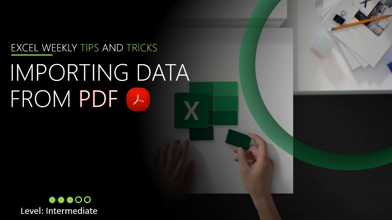 Importing PDF File into Microsoft Excel using Power Query