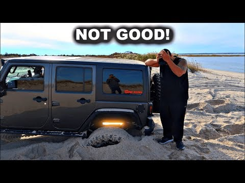 Forcing My $90,000 Jeep Wrangler To Get Stuck In The Sand - Got Carried Away!