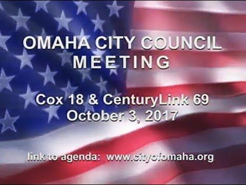 Omaha Nebraska City Council Meeting, October 3, 2017