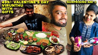 VALENTINE'S DAY VIRUNDHU & Surprising Ani with a GIFT 🎁 | New Kurunji Restaurant