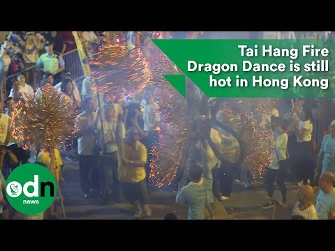 Tai Hang Fire Dragon Dance is still hot in Hong Kong