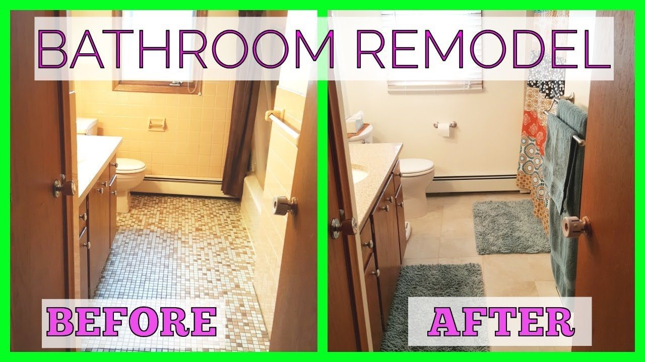 Bathroom Remodel Before And After DIY YouTube - 70s bathroom remodel