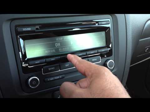 How to activate Bluetooth Audio on the VW RCD310 radio