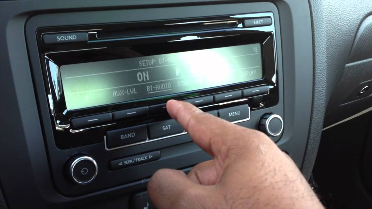 how to activate bluetooth audio on the vw rcd310 radio - youtube