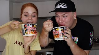 One of Lily Brown's most viewed videos: SPICY NOODLE CHALLENGE FT MICHAEL FINCH || LILY BROWN