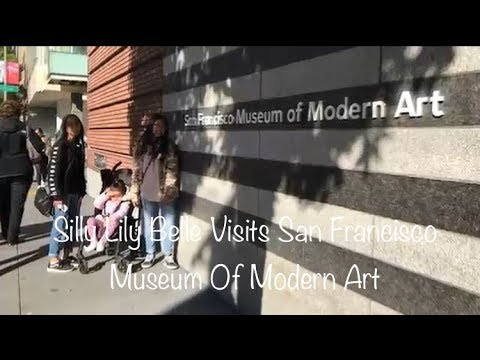 Silly Lily Belle Visits San Francisco Museum Of Modern Art
