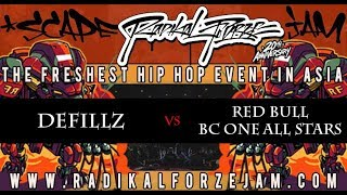 DEFILLZ vs RED BULL BC ONE ALL STARS | TOP 4 BBOY 4on4 | RADIKAL FORZE JAM 2018
