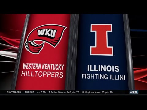 Western Kentucky at Illinois - Football Highlights