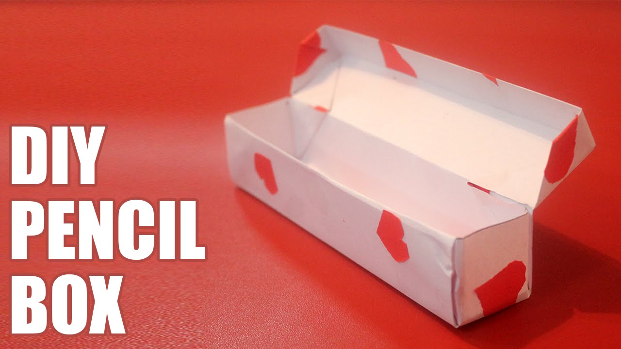& How to make a paper pencil box - YouTube Aboutintivar.Com