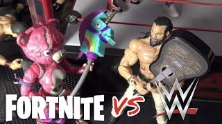 WWE action figure set up - Fortnite