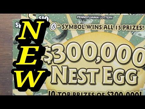 NEW $10 $300,000 Nest Egg. Pa lottery scratch tickets