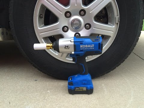 Kobalt 24V MAX Impact Wrench Tire Rotation