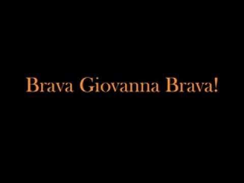 Brava Giovanna brava!