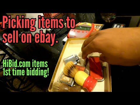 Picking Up Estate Items To Sell On Ebay Bidding On HIBID.com | Lets See How This Goes! 1st Time!