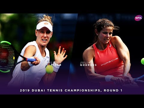 Julia Goerges vs. Alison Riske   2019 Dubai First Round   WTA Highlights