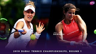Julia Goerges vs. Alison Riske | 2019 Dubai First Round | WTA Highlights