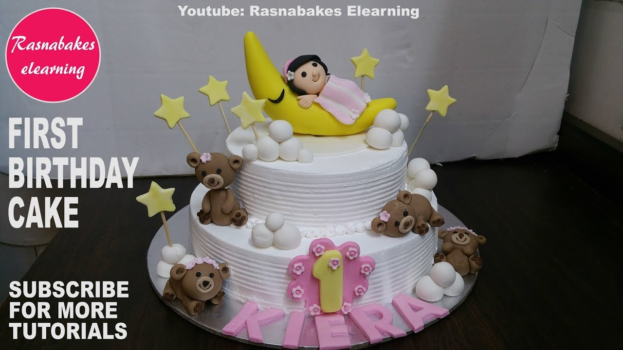 How To Make First Birthday Cake Design Or IdeasBaby Girl 1st Ideas