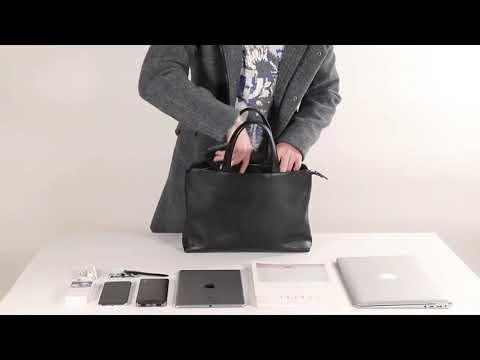 men 새로운 남성 서류 가방 가죽 단면 핸드백 컴퓨터 가방 대용량 비즈니스 캐주얼 남성 가방(B2B)베스트상품