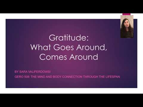 Gratitude: What Goes Around Comes Around