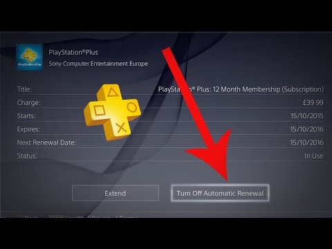 How To Turn Off Auto Renew On PS Plus - How To Cancel Your Playstation Plus Auto Renewal