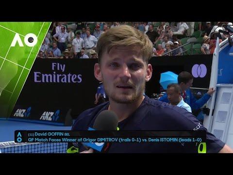 David Goffin on court interview (R4)  | Australian Open 2017