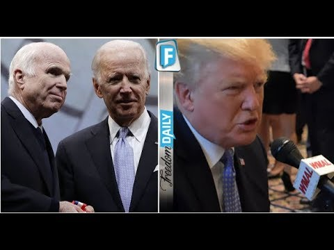 "TRAITOR MCCAIN USES PRESTIGIOUS AWARD TO TRASH TRUMP BIG MISTAKE AFTER POTUS SHOWS UP WITH ""UGLY"" SU"